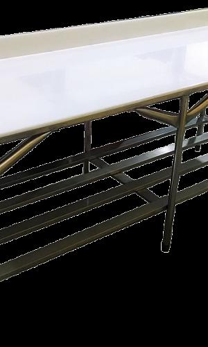 Mesa para cortar carne em açougue