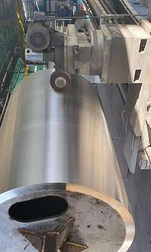 Usinagem de cilindros para indústria têxtil